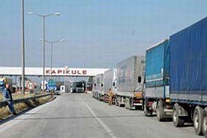 Kapıkule'de 10 kilometre TIR kuyruğu.11428