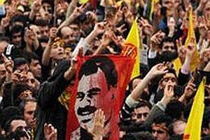 Barış mitingde Öcalan ve PKK sloganı.20973