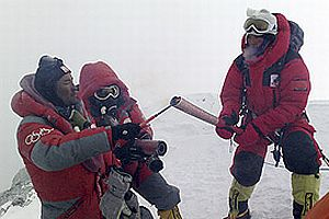 Olimpiyat meşalesi Everest'te.16580