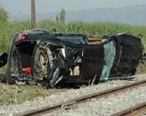 Denizli'de tren otomobile çarptı: 2 ölü.14805