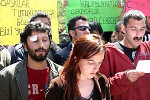 Sivas Cumhuriyet �niversitesi'nde ��renci kavgas�.20529