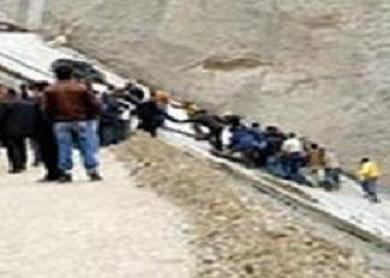 Baraj inşaatında feci kaza.17124