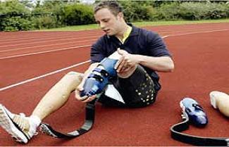 Protez bacaklı atlet, Olimpiyat'ta.16606