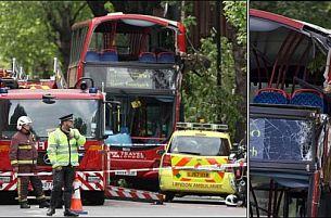 Çift katlı otobüs ağaca çarptı: 1 ölü.22912
