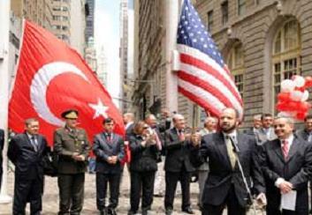 Wall Street'e Türk bayrağı çekildi.22400