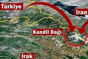 İran Kandil Dağı'nı topa tuttu.24566