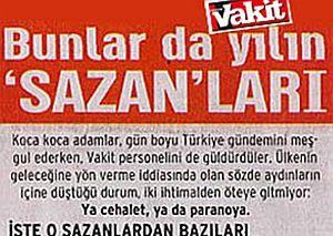 Vakit gazetesinin 'sazan' listesi.25850