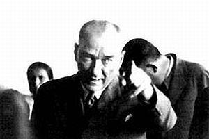 Atatürk'ün ziyaret ettiği iller haritası.10175