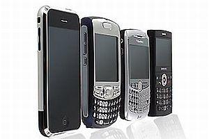 Blackberry rakibi iPhone'u solladı.11575