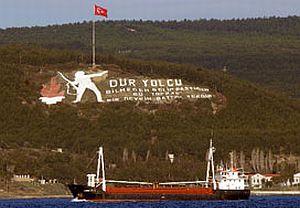 Çanakkale Boğazı'nda gemi arızası.15800