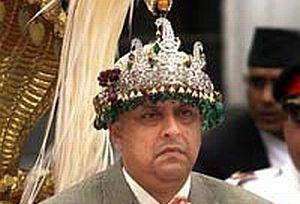 Nepal'de kral sarayı terk etti.15932