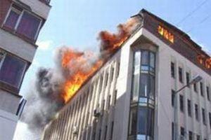 Fakültede yangın paniği.12716