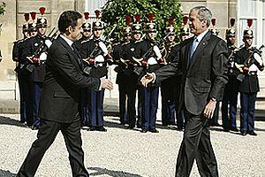Bush, Sarkozy ile görüştü.25092