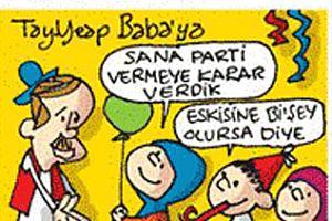 Karikatürist Saliha Memecan, 'Babalar Günü' için çizdi.22879