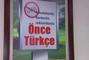 Genelkurmay'dan 'önce Türkçe' afişi.10641