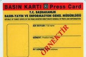 142 gazeteciye sürekli basın kartı.14779