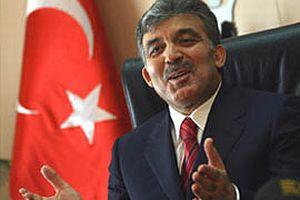 Abdullah Gül'e tek kişilik protesto.11279