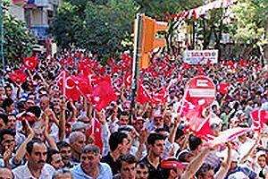 Malatya'da 50 bin kişi darbe karşıtı yürüyüşe katıldı.30153
