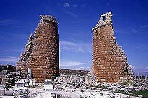 Aspendos'ta gösteri merkezi.20857