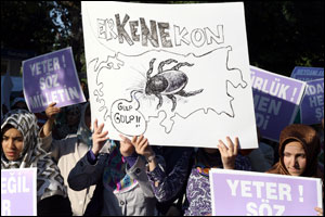 Konyalılar darbeye karşı yürüdü.22780