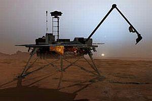 Phoenix Mars'tan buz topladı.10009