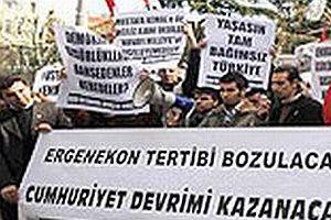 Beyoğlu'nda Ergenekon protestosu.22080