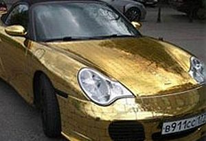 Altın kaplama Porsche.15295