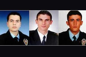 Şehit polis memurları memleketlerine gönderildi.9278