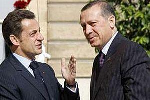 Sarkozy, Başbakan Erdoğan'la görüştü.15233