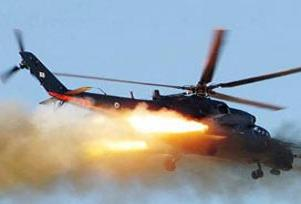 Helikopter evin çatısına düştü.7711