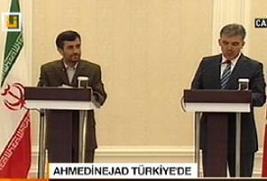 Gül ve Ahmedinejad'tan basın açıklaması.11949