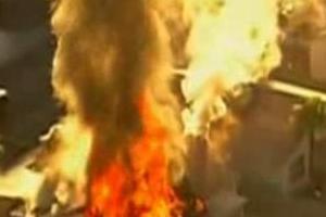 Türklerin oturduğu 2 binada yangın.8018