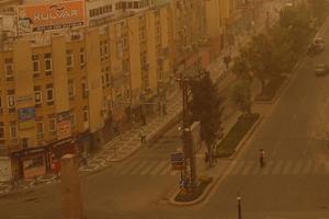 Şanlıurfa'da toz bulutu uyarısı.9060