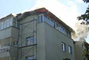 Bursa'da bir otelde yangın paniği.9829