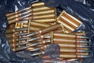 Sakarya'da çöplükte mermiler bulundu.16124