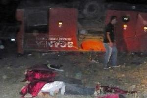 Ağrı'da yolcu otobüsü faciası: 17 ölü!.10154