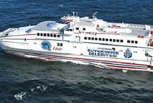 �stanbul'da feribot seferleri iptal edildi.15961