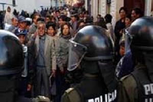 Bolivya'da sıkı yönetim.12352