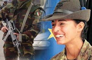 İtalyan ordusunda ilk Müslüman kadın.14403