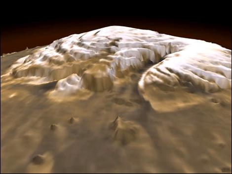 NASA, Mars'ta buzullar farketti.44066