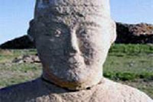 En eski T�rk heykeli bulundu.10893