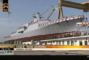 İlk Türk savaş gemisi denize indirilecek.13355