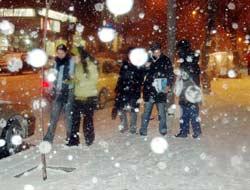 Erzurum'a da ilk kar düştü.11271