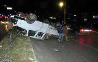 Suudi kadın sürücü kaza yaptı.11747