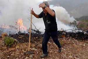 Gazipaşa'daki yangın söndürüldü.29075