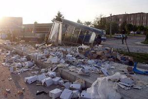 TIR devrildi: 1 kişi öldü.14028