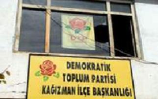 DTP Kağızman binasına molotof.12585