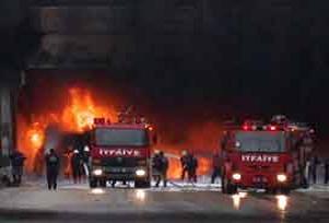 Bursa'da süt fabrikasında yangın.8021