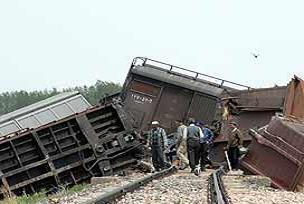 Sivas'ta iki yük treni çarpıştı.14609