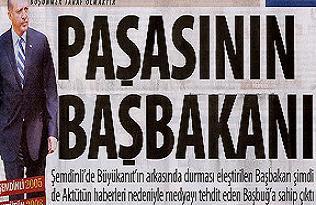 'Taraf' Erdoğan'a apolet taktı.24377